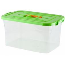 Контейнер для хранения с ручки-клипсами пластмассовый, 15 л, 41,5х27х22 см