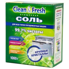 Соль очищенная для посудомоечных машин Clean&Fresh, 1000 г
