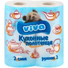 Кухонные полотенца Viva (Вива), 2-х слойные 2 рулона