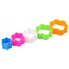 Форма пластиковая для печенья Цветок, d4,5 см; d6 см; d7 см; d8,5 см; d9,5 см; h3 см, 5 шт