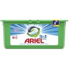 Гель для стирки в растворимых капсулах автомат Ariel (Ариэль) Touch of Lenor Fresh, 30 шт*28,8 г