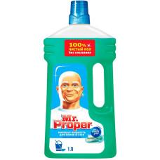 Моющая жидкость для полов и стен Mr. Proper (Мистер Пропер) Горный ручей и прохлада, 1 л