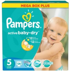 Подгузники Pampers (Памперс) Active Baby Junior 5 (11-18 кг), 126 шт