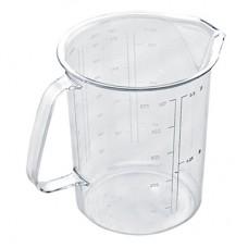 Кружка мерная пластмассовая 0,5 л, д9,5 см, h11,4 см