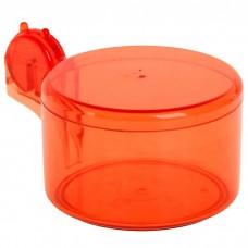 Сахарница пластиковая с крышкой, цвета микс, 14x10,5х8 см