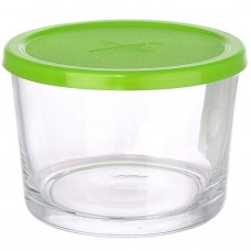 Банка стеклянная Basic зеленая крышка, 0,2 л, д8 см, h6 см