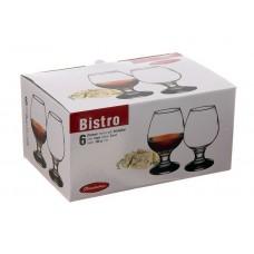 Бокал стеклянный для коньяка Bistro, набор 6 шт, 25 мл, д6 см, h12 см