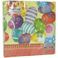 Салфетки сервировочные Fresco (Фреско) Пасхальные яйца, 33х33 см, 20 шт