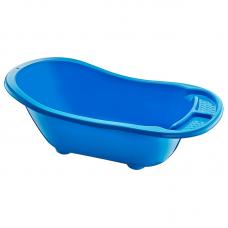 Ванна детская пластмассовая Широкая с водостоком (голубая) 55 л, 53х92х28 см