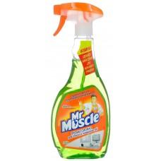 Моющее средство для стекла Mr. Muscle (Мистер Мускул) Лайм со спиртом, курок, 500 мл