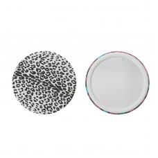 Зеркало компактное, без увеличения (леопард), d=7,5 см