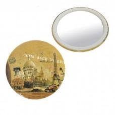 Зеркало компактное, без увеличения (город), d=7,5 см