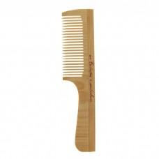 Расческа деревянная с ручкой (частые зубцы), 19,5 × 4,5 см