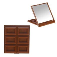 Зеркало компактное Шоколадное чудо маленькая плитка (микс)