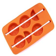 Форма для замораживания силиконовая Цитрусы, цвета микс, 12х20х1,8 см