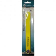 Пилка прямая Zinger (Зингер) для натуральных и искусственных ногтей, цвет желтый, 150/220, ZO 101-10-COL