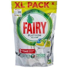 Капсулы для посудомоечных машин Fairy Platinum (Фейри Платинум) All in One, 50 шт