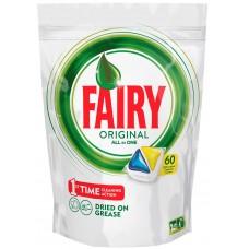 Капсулы для посудомоечных машин Fairy (Фейри) Original All in One, 60 шт