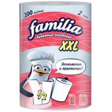 Бумажные полотенца Familia XXL 2-слойные, 1 рулон (белые)