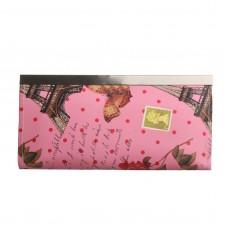 Кошелек женский на застёжке, 5 отделов, цвет розовый