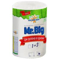 Бумажные полотенца Мягкий знак Mr.Big, 2-х слойные, 1 рулон