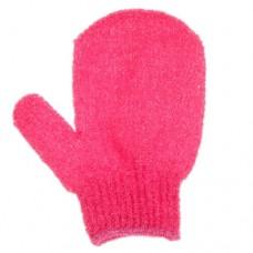 Мочалка-варежка с пальцем, массажная, цвета микс