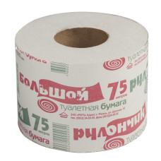 Бумага туалетная Рулончик 1-слойная, 75 м
