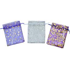 Пакет подарочный органза Микс 5, 12х15 см