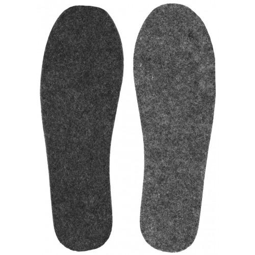 Стельки для обуви войлочные тонкие размер 45 2 шт