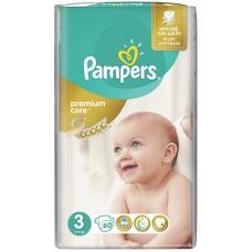 Подгузники Pampers (Памперс) Premium Care Midi 3 (5-9 кг), 60 шт
