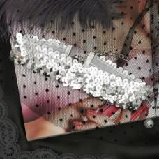 Чокер Вечеринка, цвет серебро