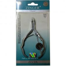 Кусачки маникюрные Zinger (Зингер) для кожи матовые резные ручки, ZO B-228 DLJ