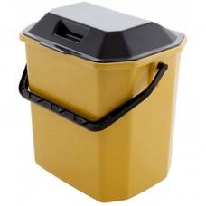 Ведро для мусора с крышкой пластмассовое, прямоугольное, 29х21х30 см, 10 л