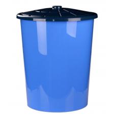 Бак пластмассовый с крышкой универсальный, синий, д58 см, h65 см, 100 л