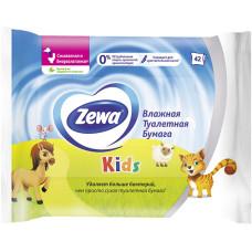 Детская влажная туалетная бумага Zewa Kids (Зева Кидс), 42 шт