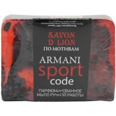 Парфюмированное мыло ручной работы Savon D Lion по мотивам Armani Sport, 100 г