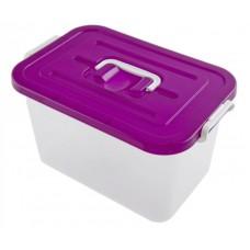 Контейнер для хранения продуктов, прямоугольный, ручка-клипса, 35,5х23,5х19 см, 10 л