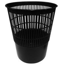 Корзина для бумаг пластмассовая сетчатая (черная), 14 л