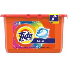 Гель для стирки в растворимых капсулах автомат Tide (Тайд) Color, 12 шт*24,8 г
