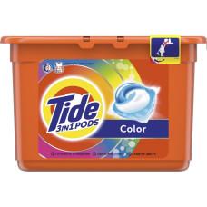 Гель для стирки в растворимых капсулах автомат Tide (Тайд) Color, 15 шт*24,8 г