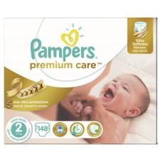 Подгузники Pampers (Памперс) Premium Care Newborn 2 (3-6 кг), 148 шт