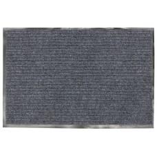 Коврик ворсовый ребристый, влаго-грязезащитный Лайма серый, 90х120 см