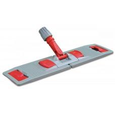 Держатель для мопов складной с педалью с зажимом (красно-серый), 40 см
