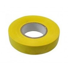 Изолента ПВХ желтая, 20 м, 17 мм
