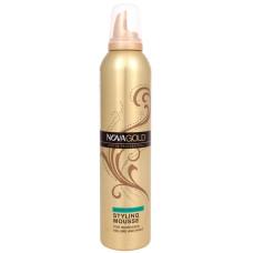 Мусс для укладки волос Nova Gold сверхсильной фиксации, 300 мл