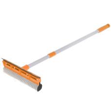 Окномойка Умничка с насадкой 25 см и телескопической ручкой 120 см, оранжевая