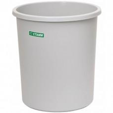 Корзина пластиковая для бумаг Стамм, цельная, серая, 9 л