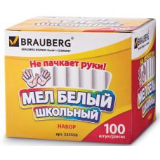 Мел круглый Brauberg, антипыль, 100 шт