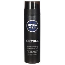 Гель для бритья Nivea (Нивея) Men Ультра черный, 200 мл