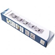 Держатель пластиковый для швабр и тряпок настенный, в коробке, 40,5х6х8 см